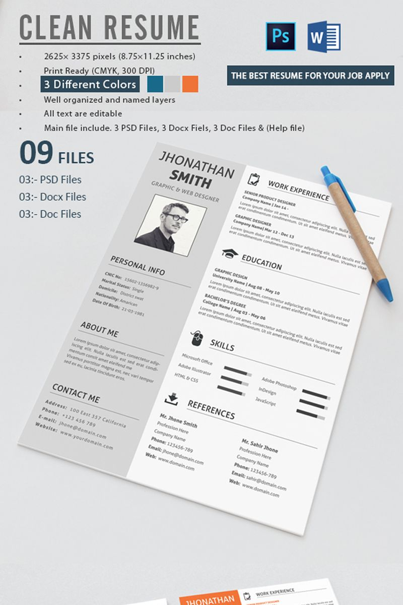 John Smith Printready Resume Template 71573 Resume