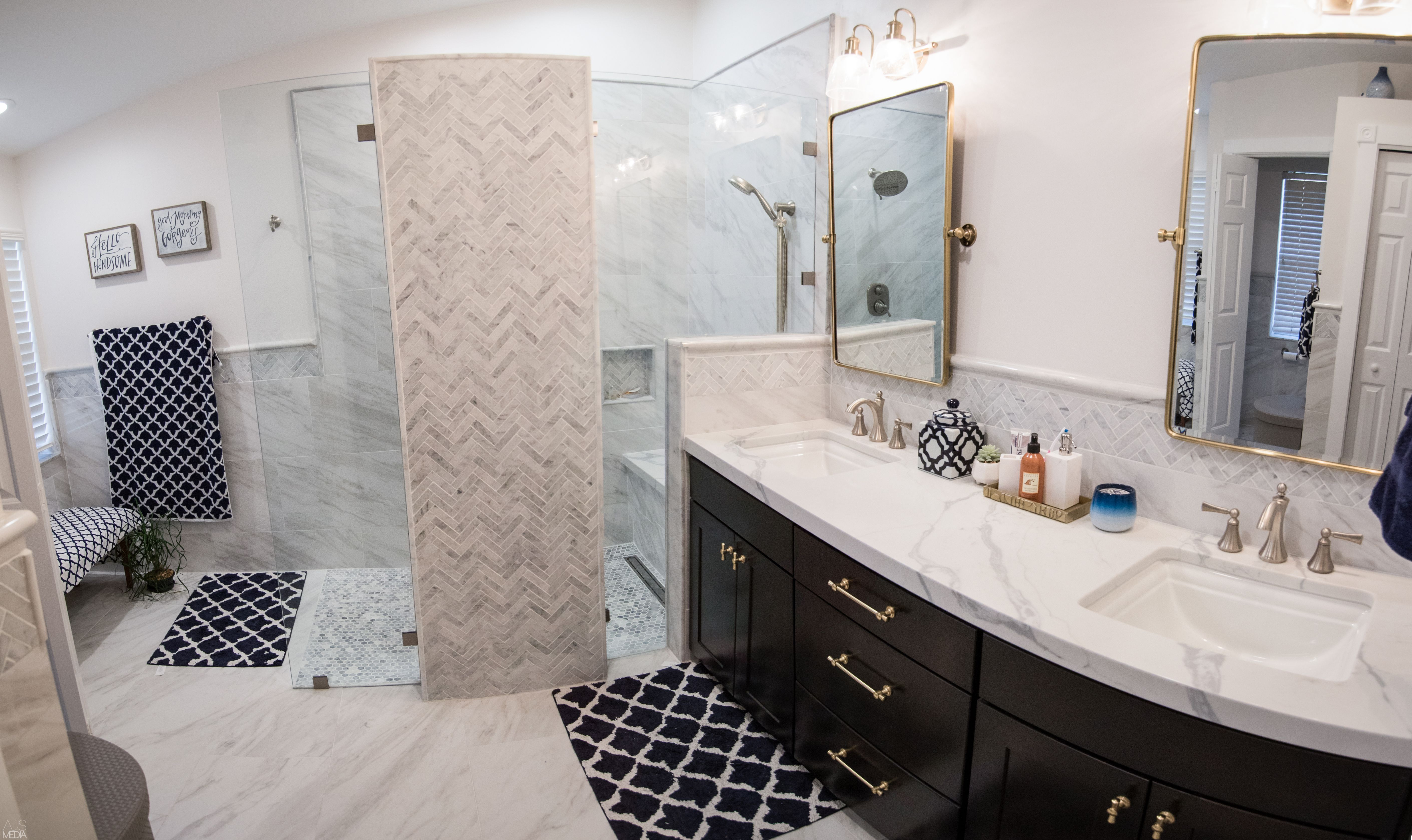 Finished Bathroom Remodel The Entire