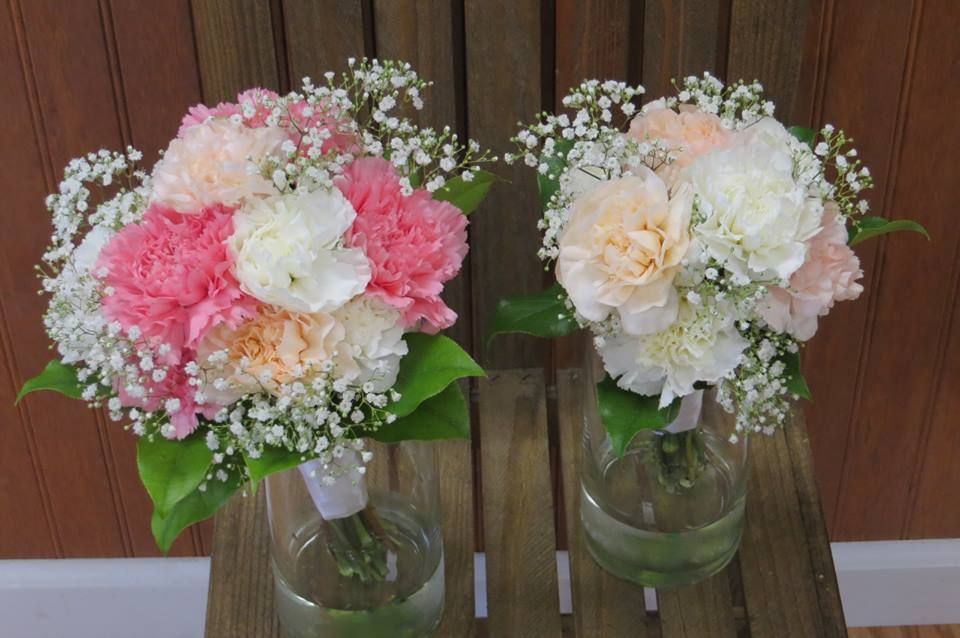 Lovely Carnation Bouquets Made by Perfect Petals Florist and Decor in Cecil County MD. 410-287-0870 or 410-658-1326