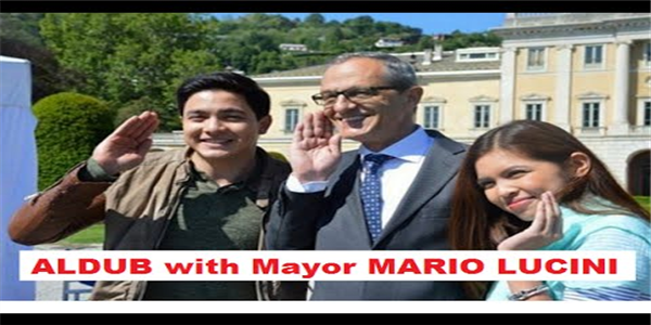 Alden and Maine Meeting With Mayor Mario Lucini Of Como