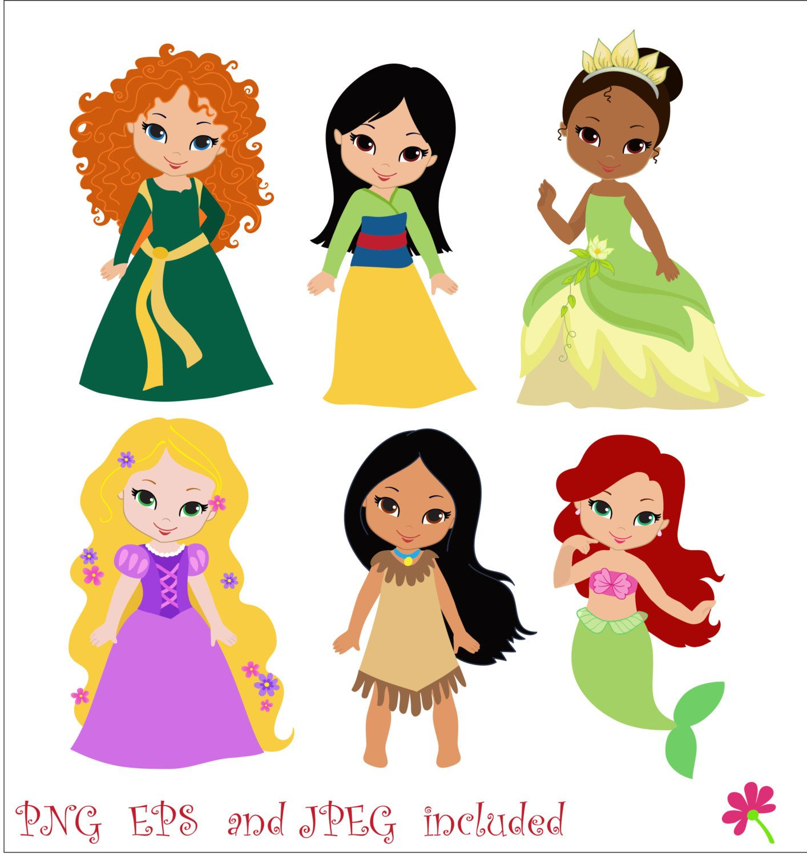 Princess 03 Digital Clipart / Cute Princess Clip Art / Fairytale ...