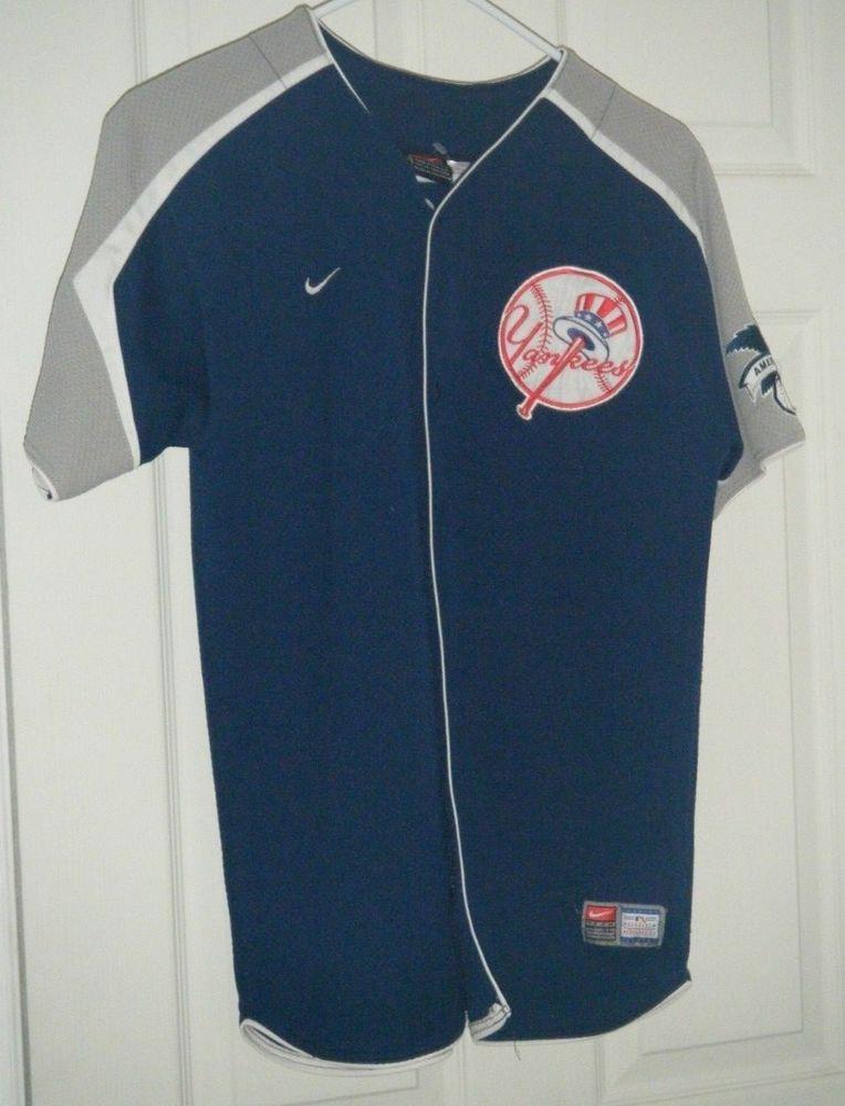 promo code 46923 fb35a Derek Jeter Nike Team Baseball Jersey Youth Large Yankees ...