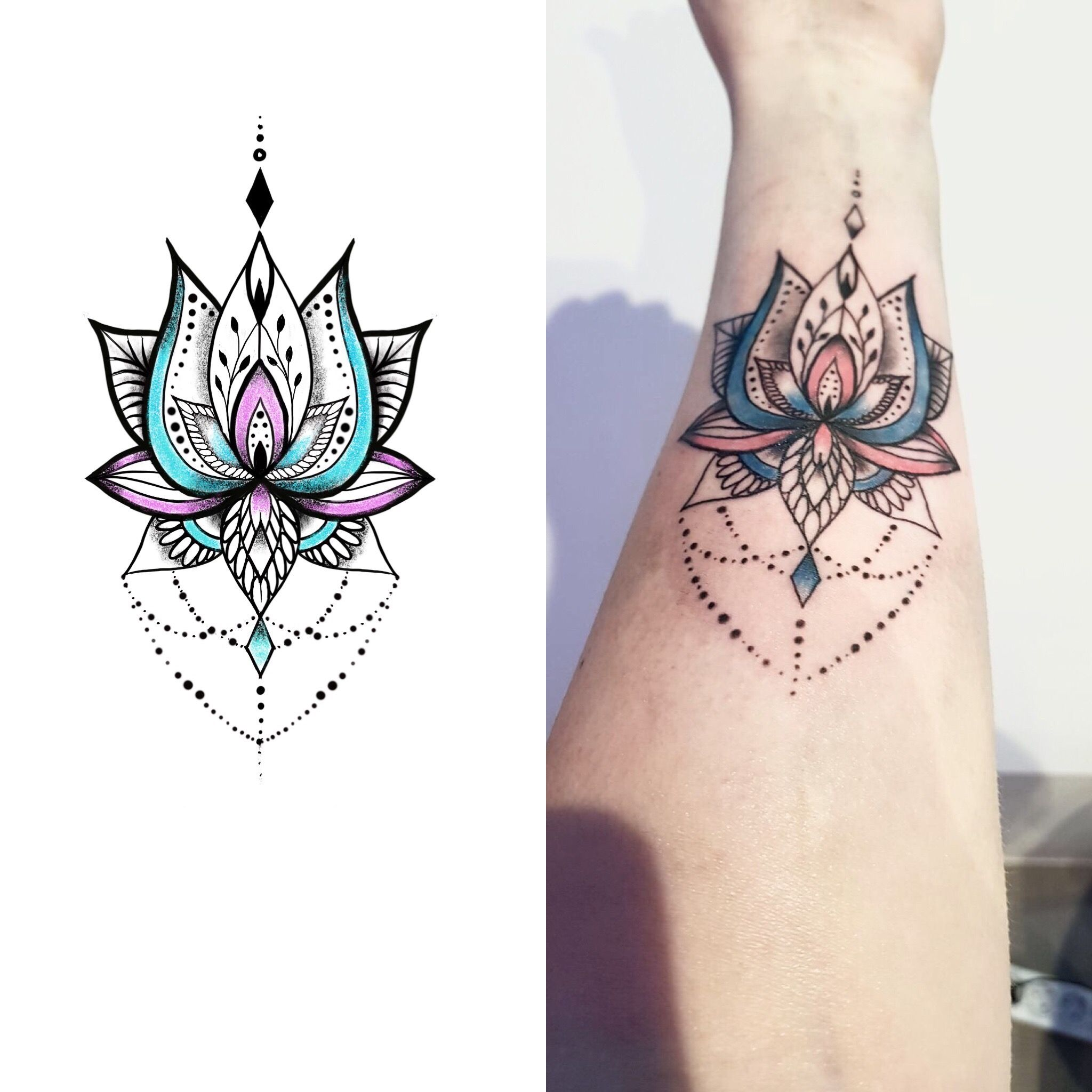 Lotus Mandala Tattoo Designed For Lovely Lady Lotus Mandala Tattoo Mandala Tattoo Design Tattoos For Women
