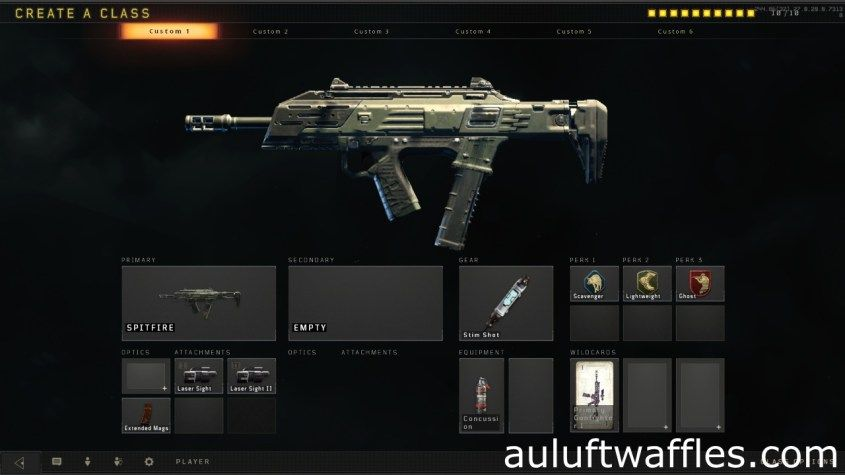 Spitfire Submachine Gun Best Class Setup Call of Duty Black
