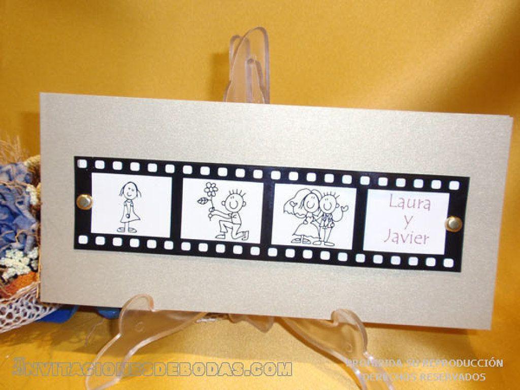 una tarjeta de boda original es como una peli