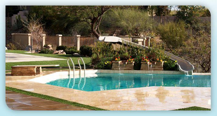 Residential Pools With Slides byos 1 custom slide (scallon custom pools • austin, tx) | pool