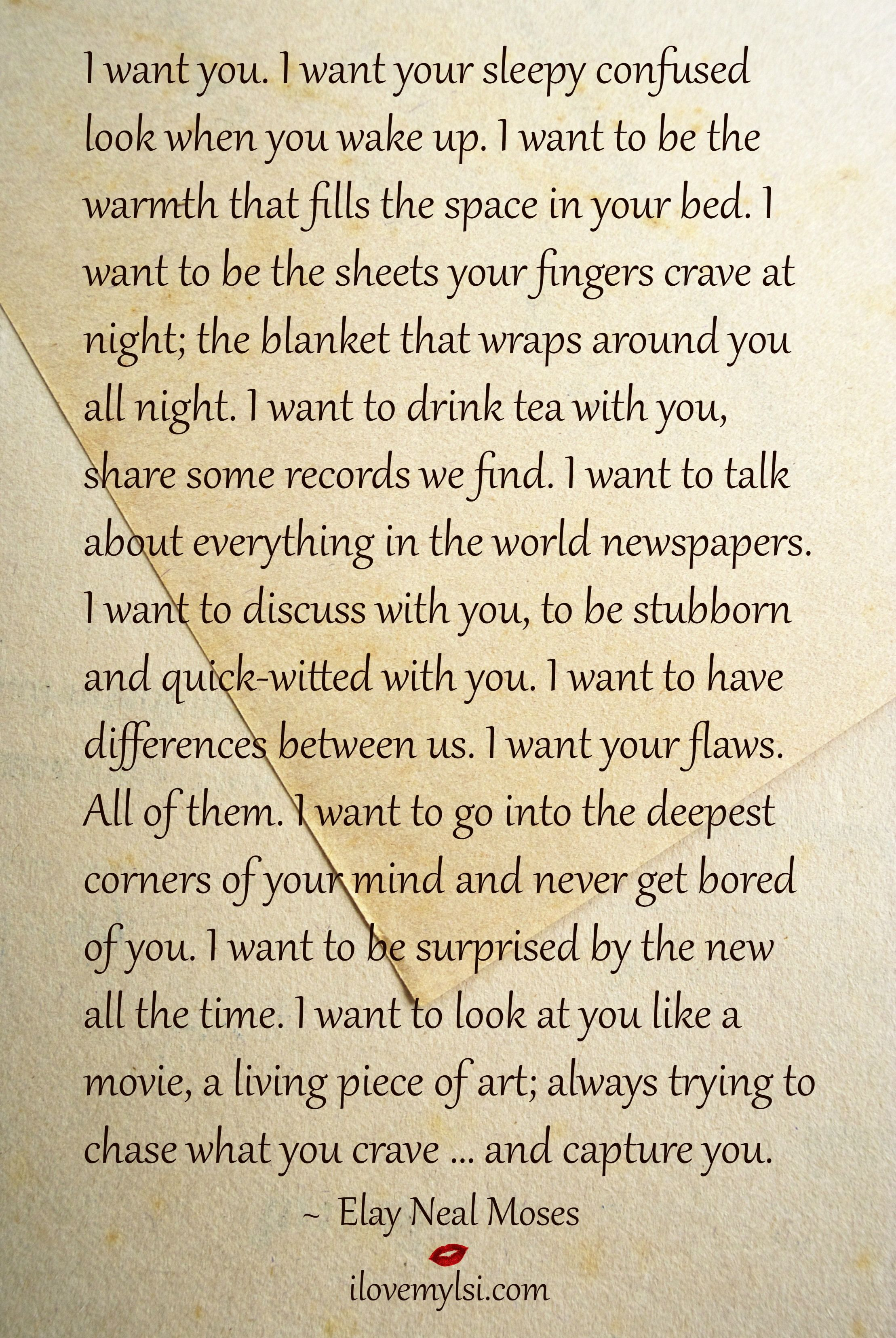 I Want You With Images Real Love Quotes
