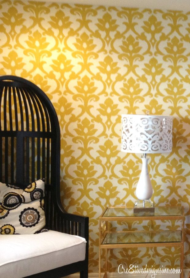 Fabric wallcoverings are a great solution for renters because they ...