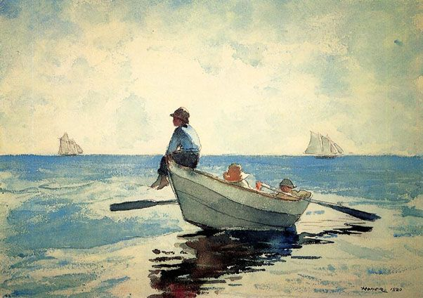 Winslow Homer Boys In A Dory 2 1880 Winslow Homer Paintings