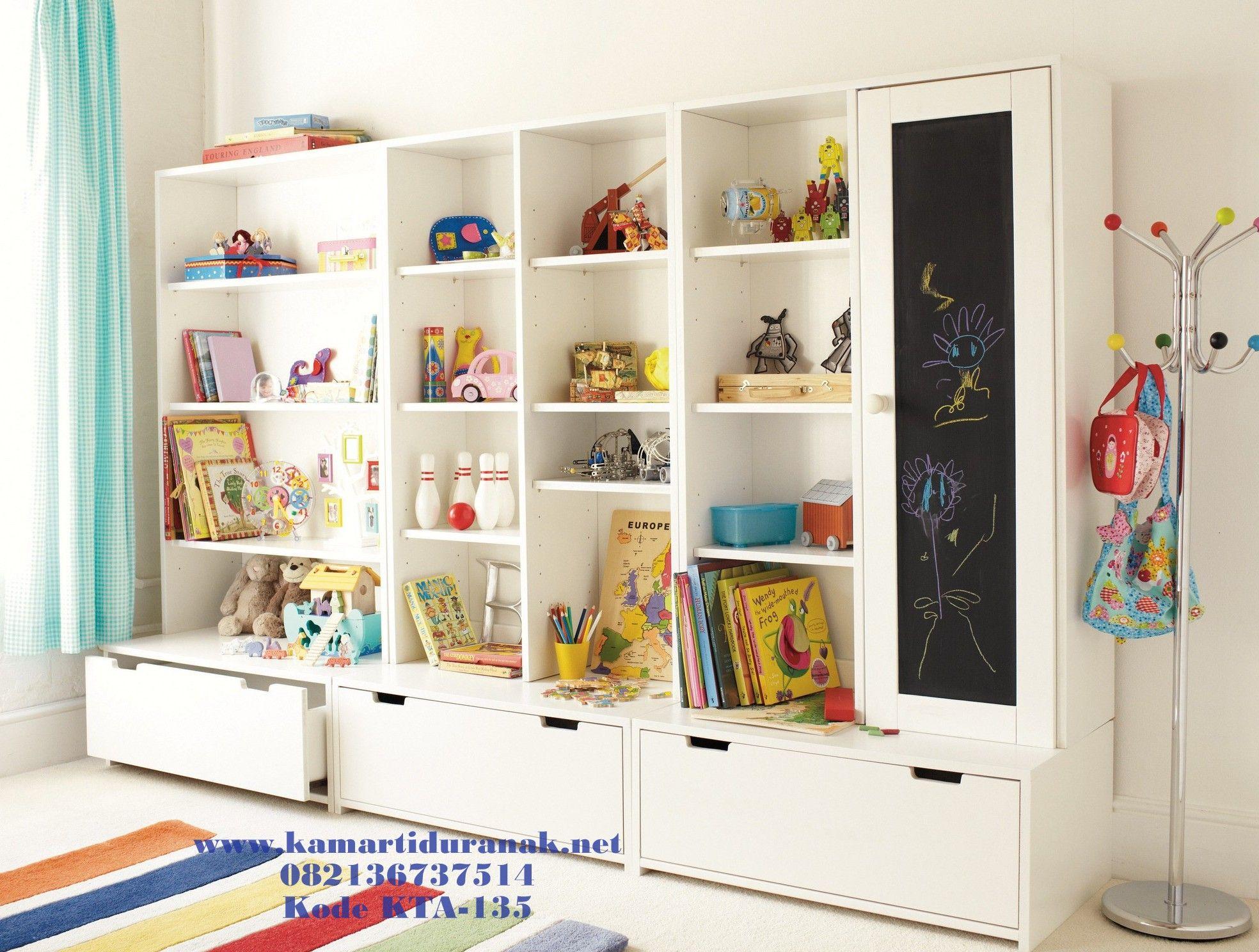 Desain Rak Lemari Boneka Anak Modern Minimalis Duco Diana Terbaru