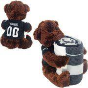 Northwest Oakland Raiders 40'' x 50'' Fleece Blanket with Bear