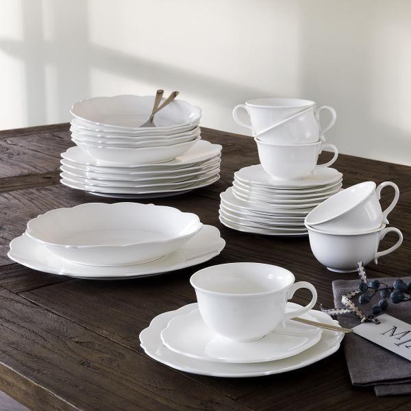 Maxwell \ Williams White Basics White Rose Dinner Set 20 Piece - wellmann küchenschränke nachkaufen