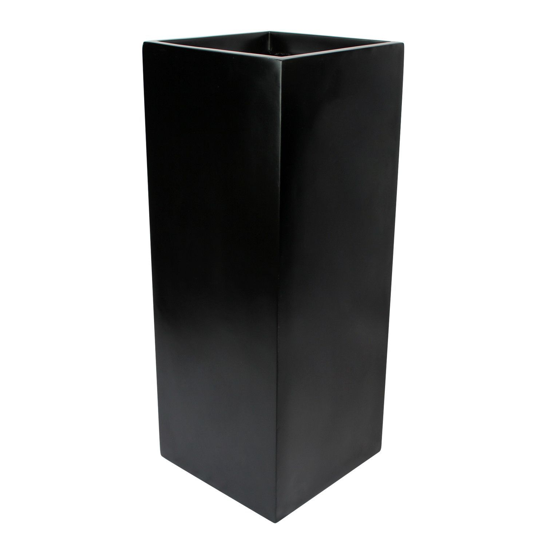 Belvedere Tall Square Cube Planter Box Black Macetas 400 x 300