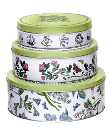 Loving this Botanic Garden Nesting Cake Tin Set on #zulily! #zulilyfinds