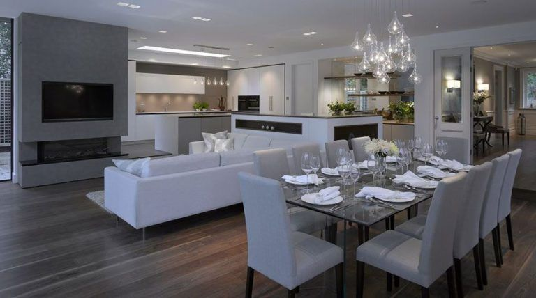 How To Zone An Open Plan Kitchen Living Space Property Price Adv Living Room And Kitchen Design Open Plan Kitchen Living Room Open Plan Kitchen Dining Living