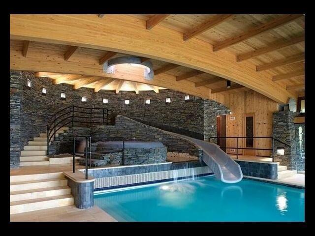 The Dream Indoor Slide Pool! | Dream: Homes | Pinterest ...