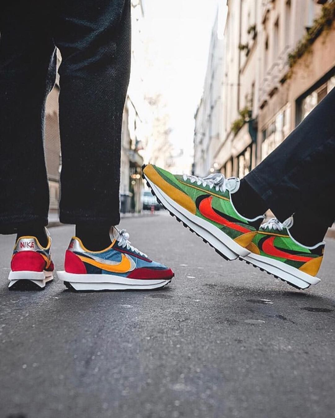 Sacai x Nike Waffle Racer On Foot 📸 @structure_paris