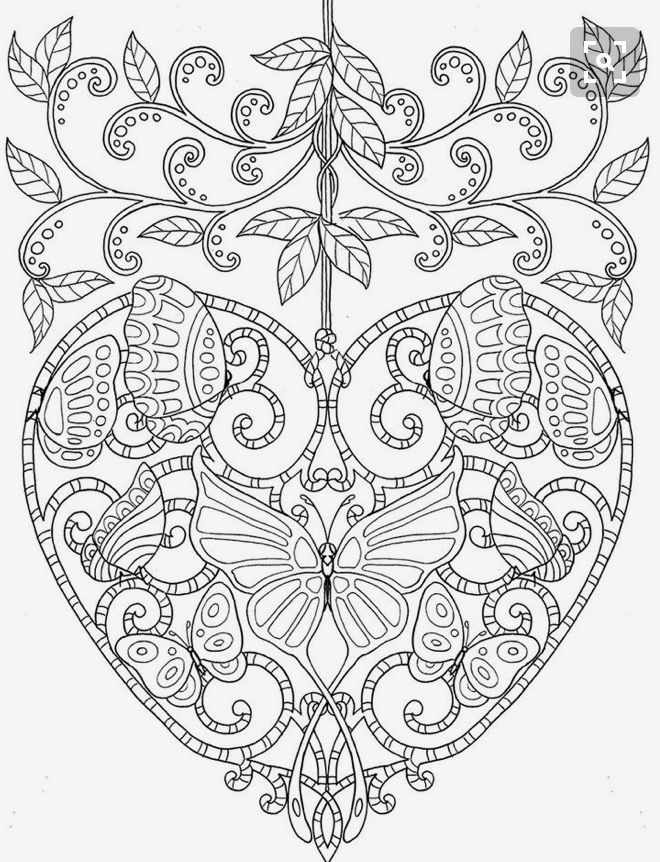 Colouring Pages Image By Beverley Botha Heart Coloring Pages