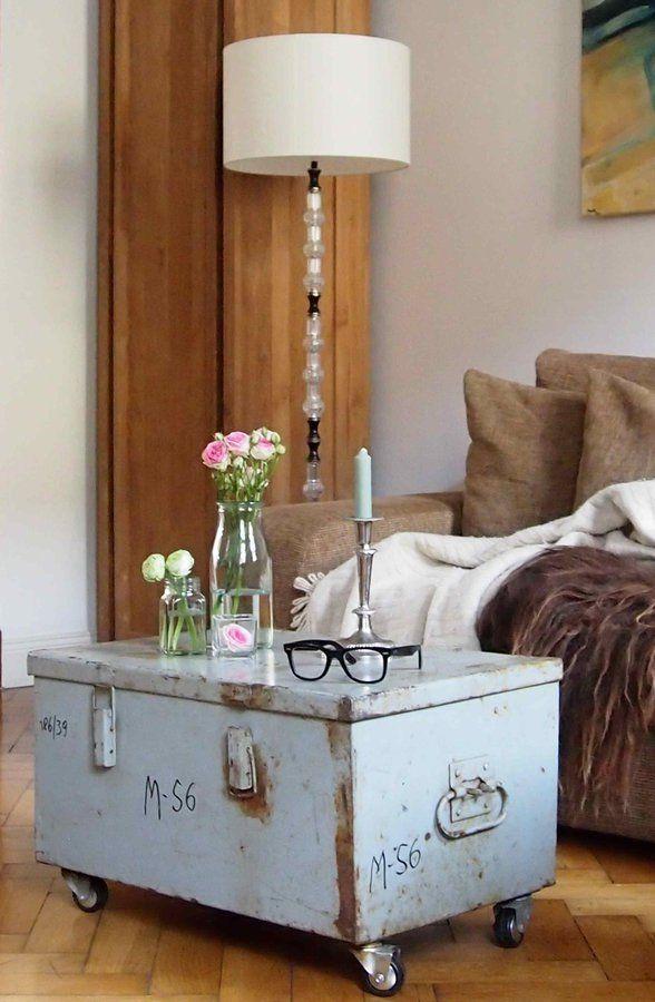 Verliebt in meine Schrubbel-Schrabbel-Kiste ;-) #interior - wohnzimmer deko vintage