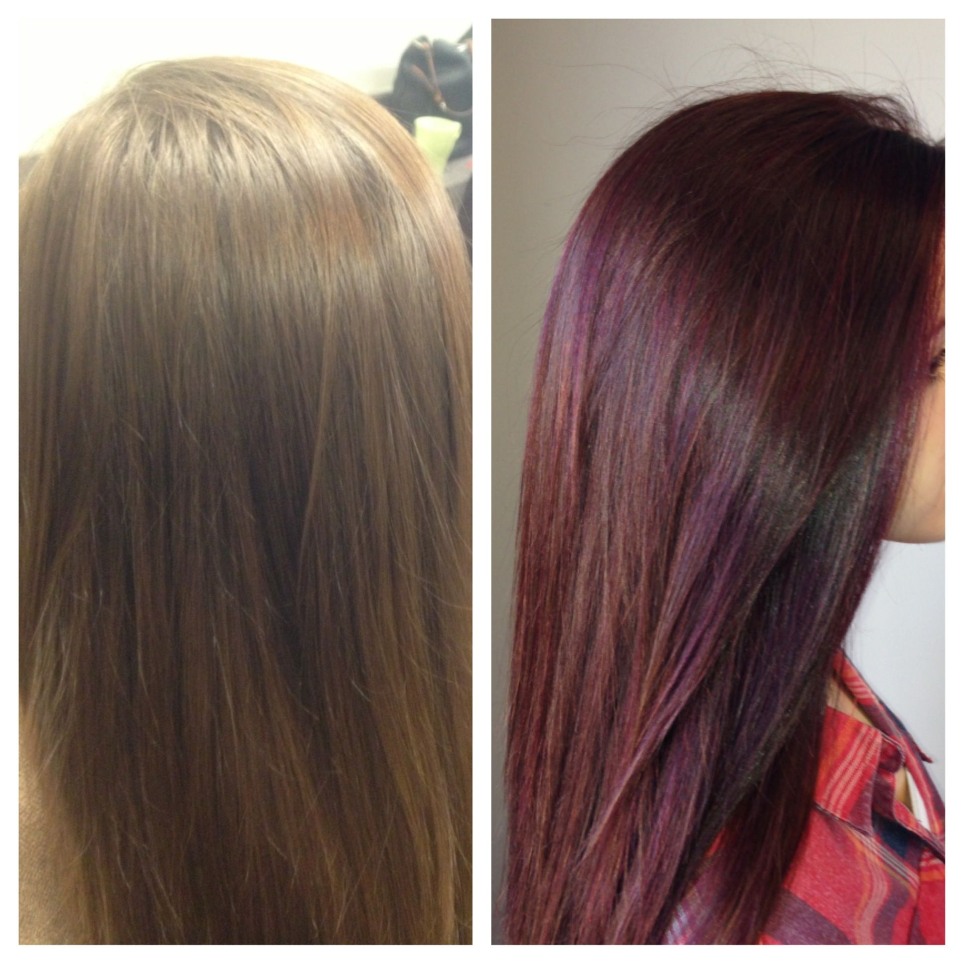 Medium Brown Hair With Lowlights: Dark Red Lowlights With Chocolate Brown Base Color! I