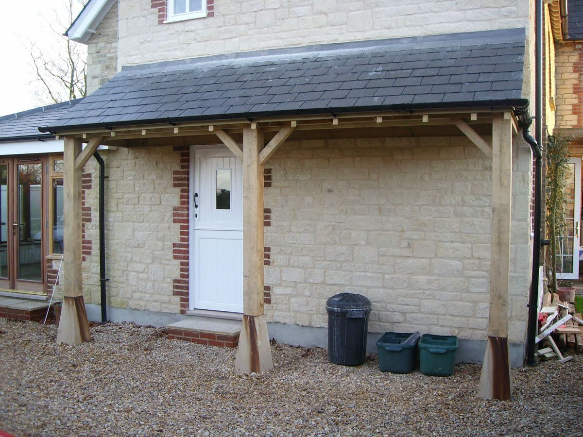 image result for porches with lean to roof and oak posts. Black Bedroom Furniture Sets. Home Design Ideas