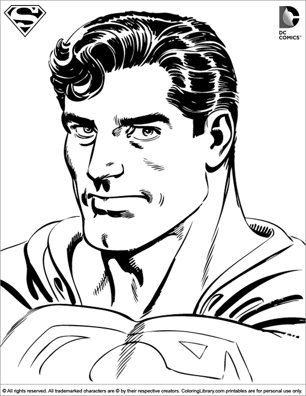 Superman coloring picture | 4 Kids Coloring Pages | Pinterest