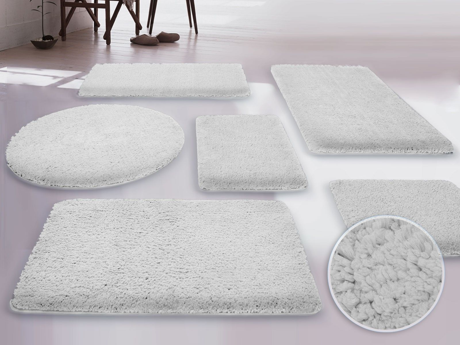 A Beautiful White Of Bathroom Rugs And Mats | Beautiful Bathroom ...
