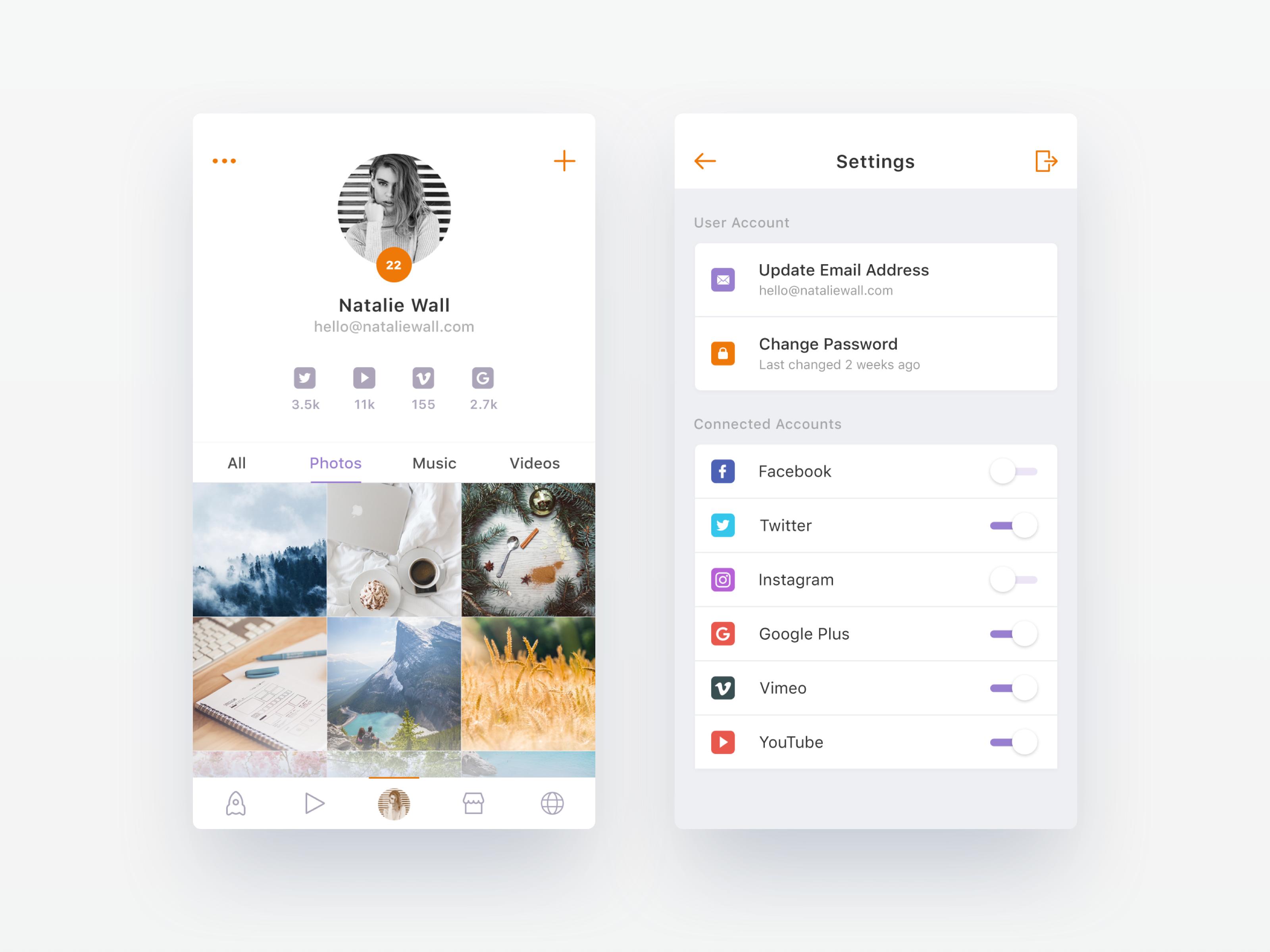 Dribbble social app ui design jpg by ramotion - Upcoming Social App Wip 3 By Nimasha Perera