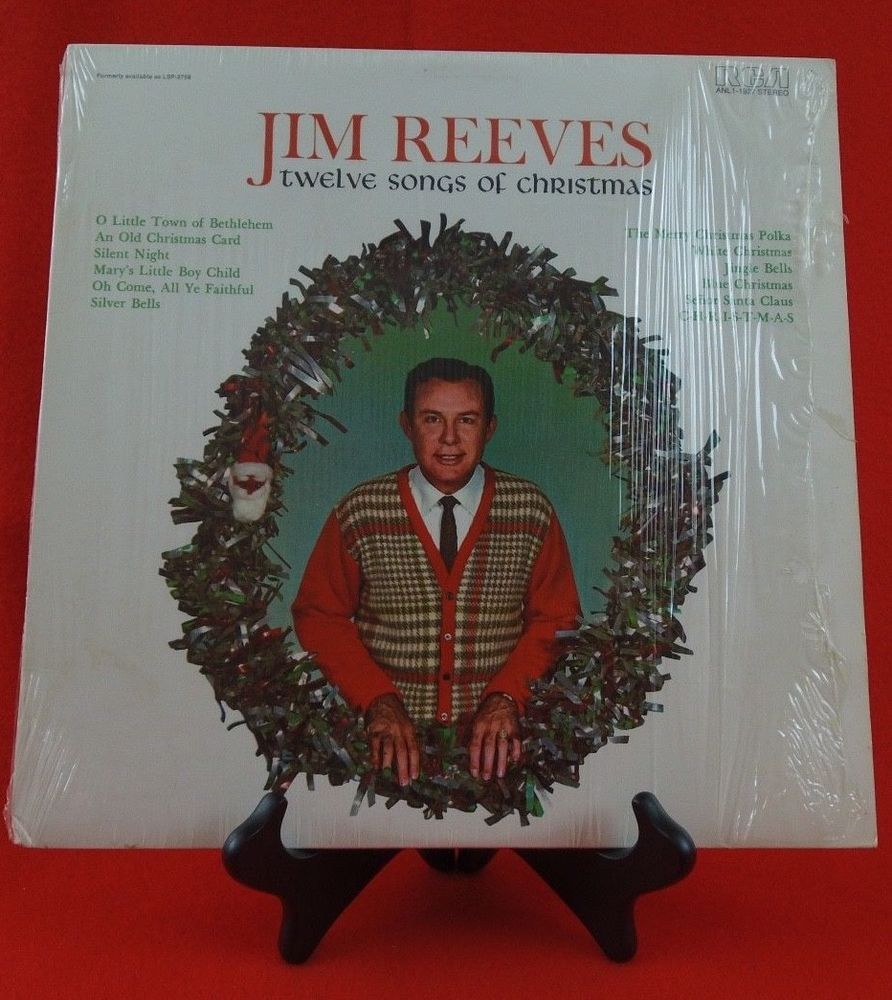 Jim Reeves Twelve Songs Of Christmas An Orig RCA LP On Classic 60\'s ...
