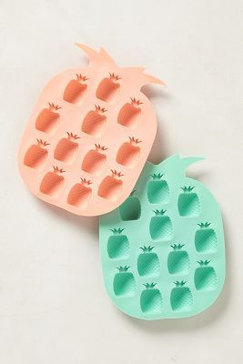 Pineapple ice cube trays.