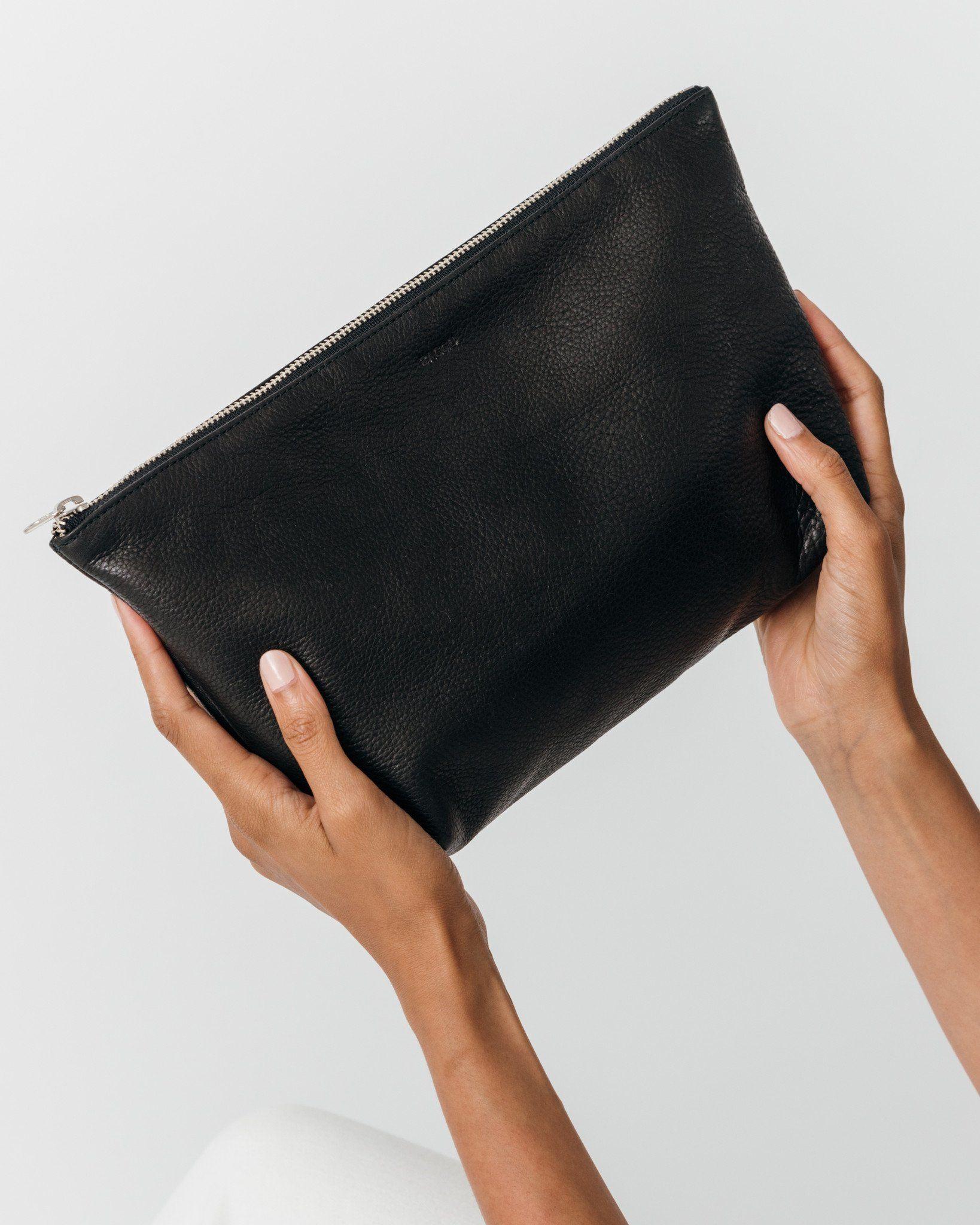 Large Cosmetic Pouch Black – BAGGU | Baggu leather