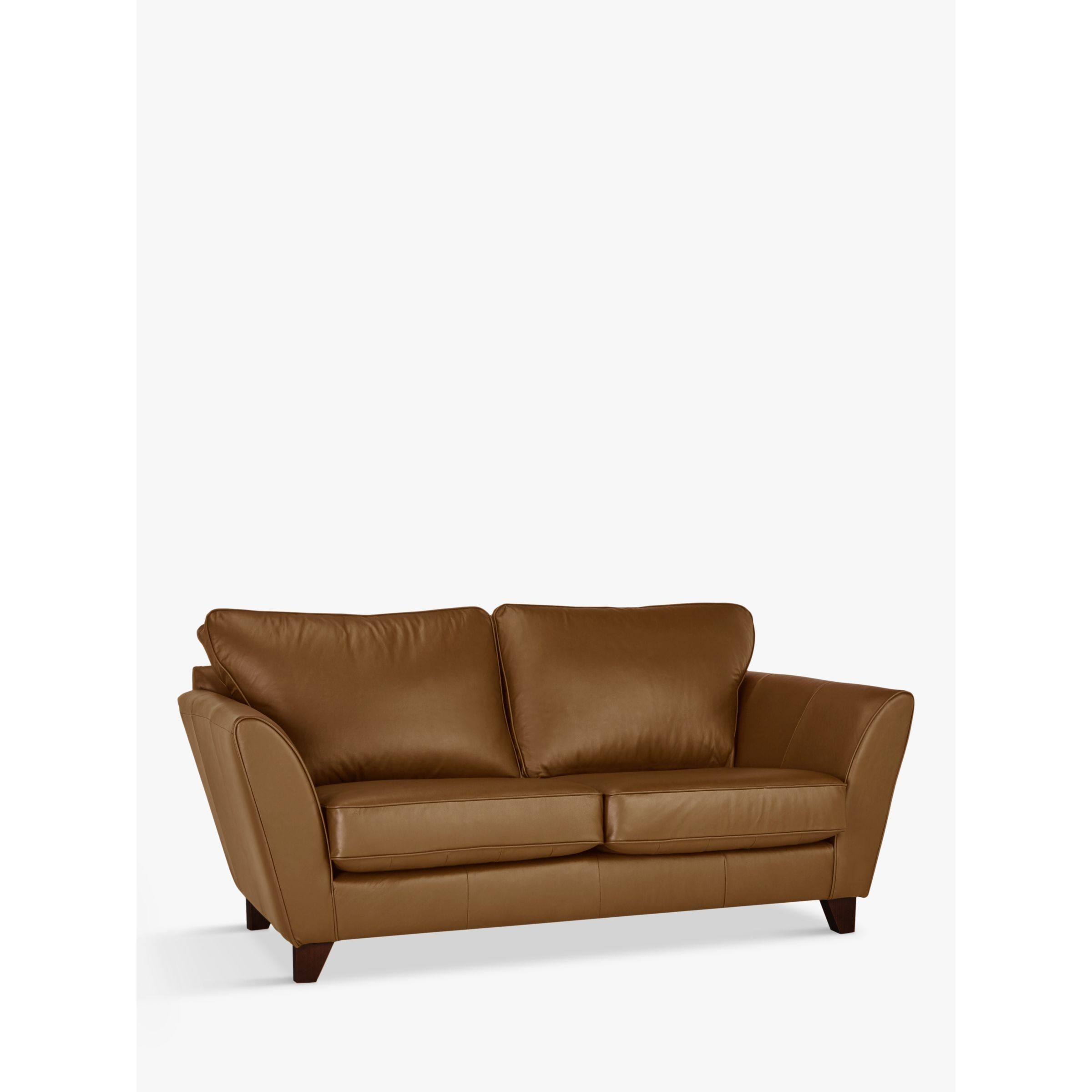 John Lewis Partners Oslo Leather Small 2 Seater Sofa Dark Leg 2 Seater Sofa Sofa John Lewis