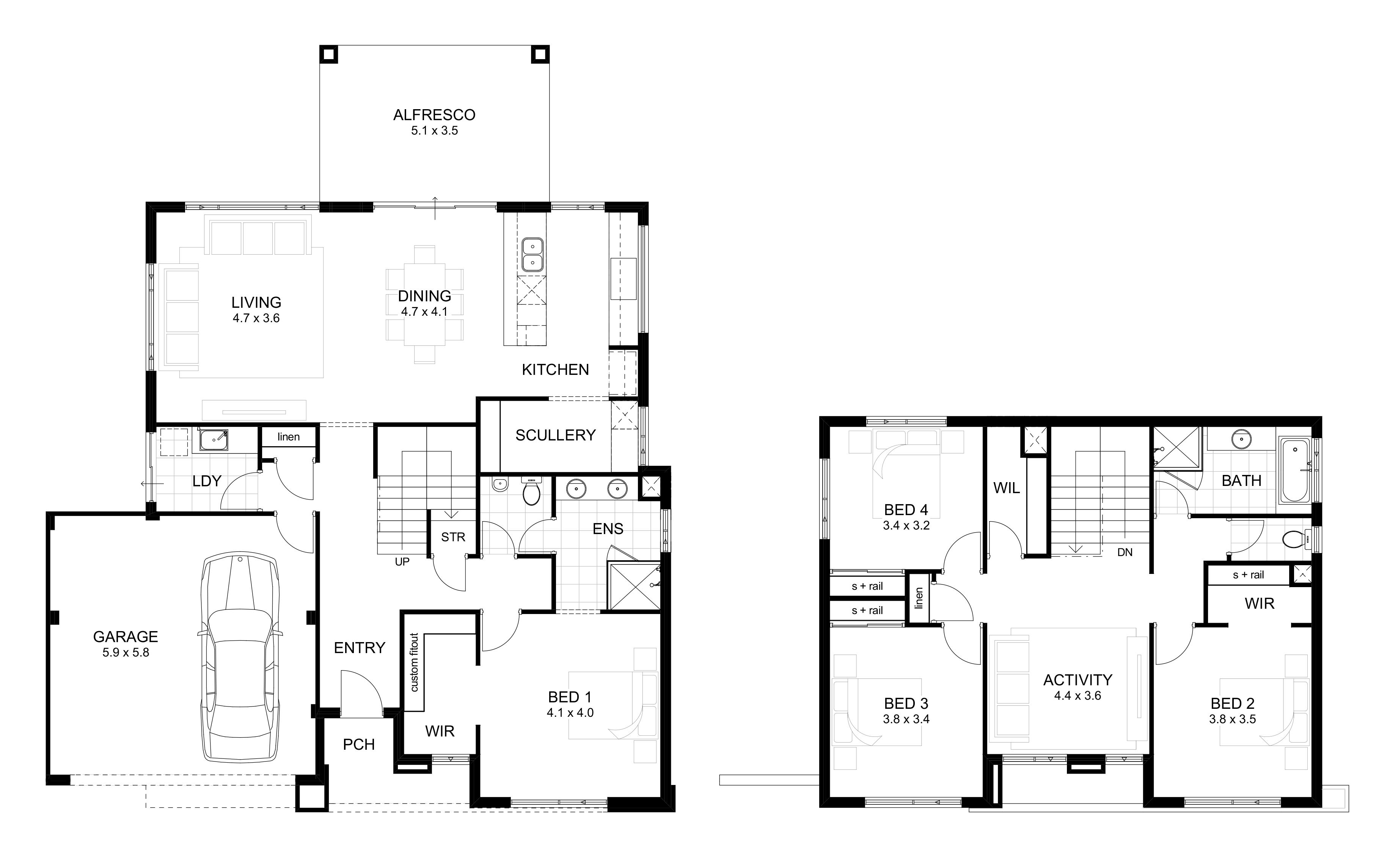 Home Designs Perth Two Storey House Plans Modular Home Floor Plans Ranch Style House Plans