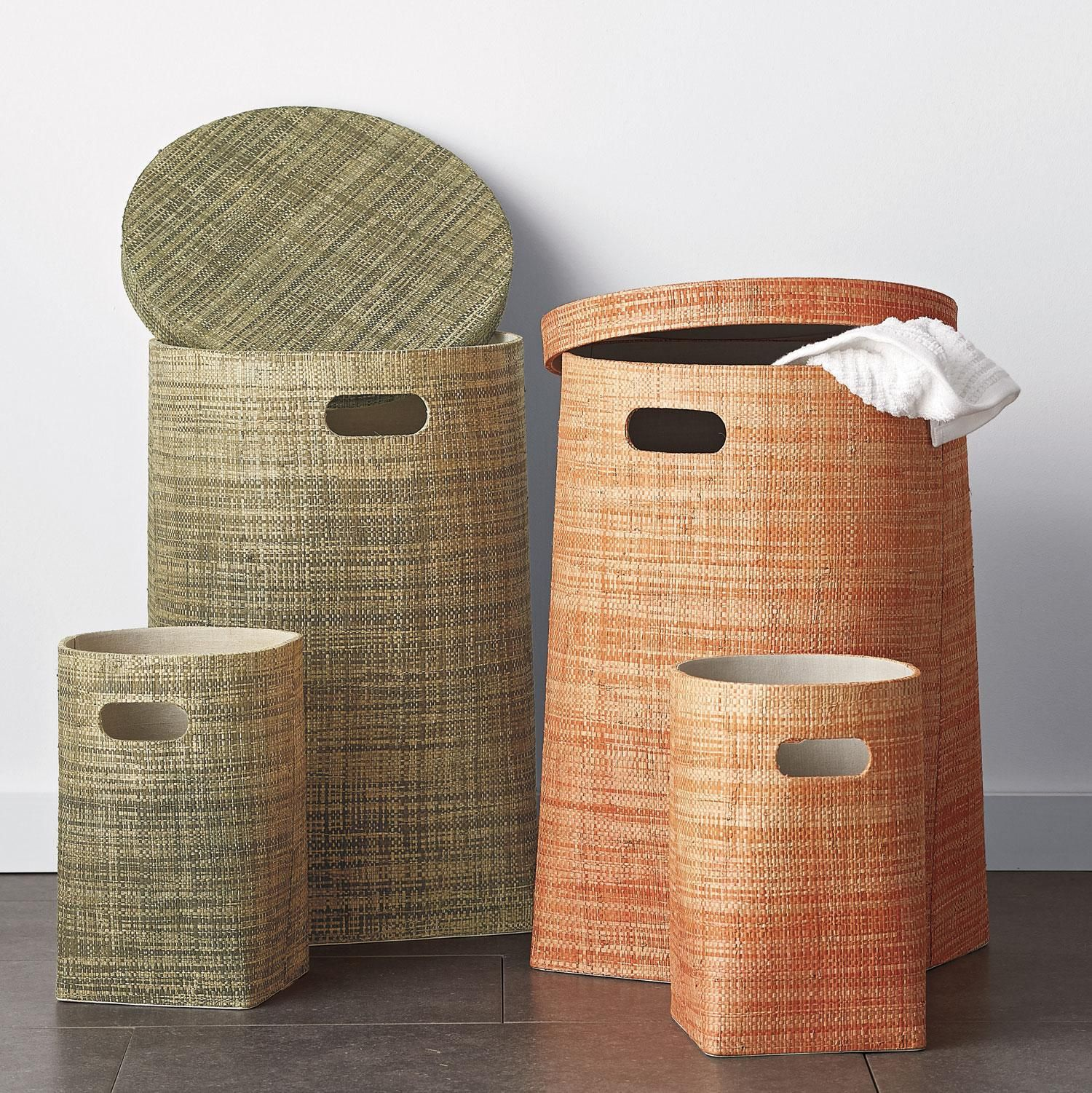 Ombre Storage Hamper Trash Can Set The Company Store Bedroom Storage Outdoor Cushions Pillows The Company Store