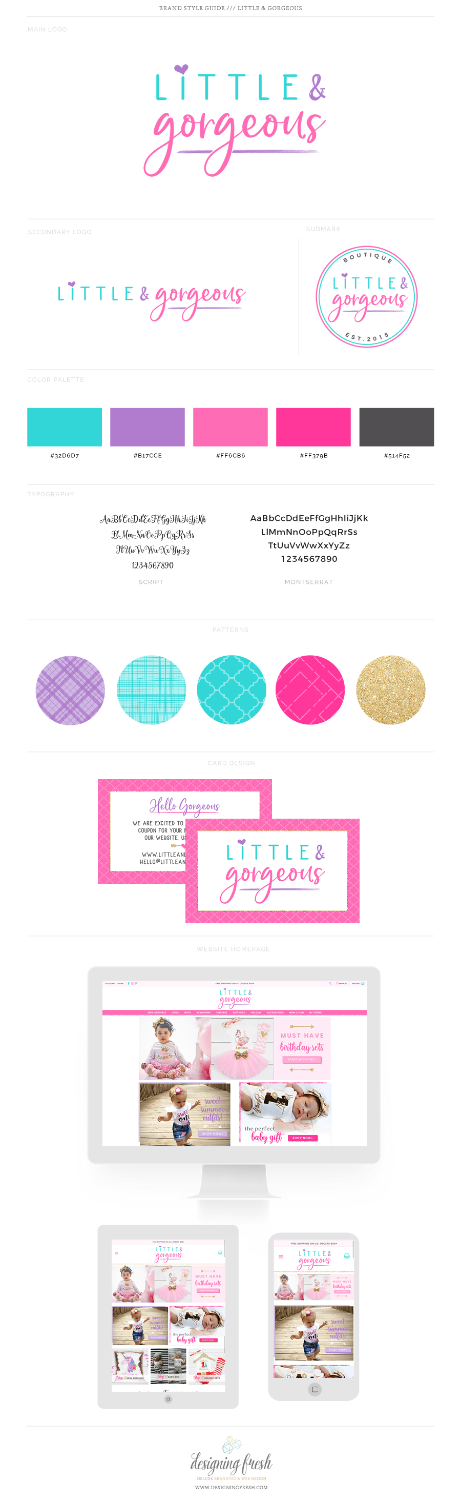 Little Gorgeous Boutique Shopify Web Design Shopify Expert Logo Inspiration Branding Kids Logo Brand Web Design