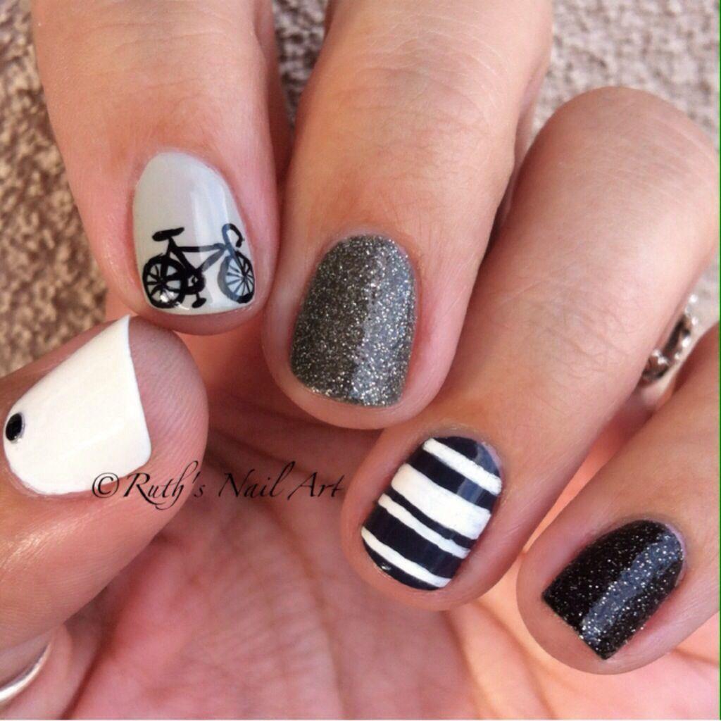 Bicycle Nails #ruthsnailart #nails #nailart   ~Nail Art {Mine ...
