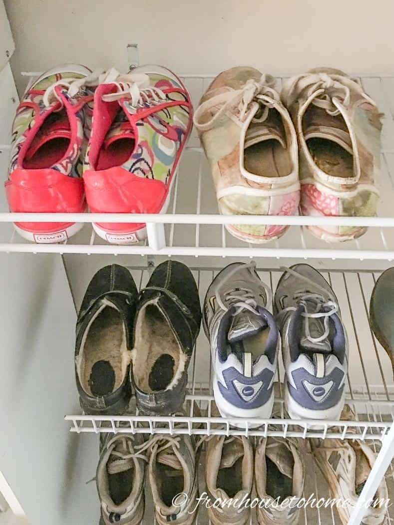 7 Clever Wire Shelving Hacks That Will Get You Organized Wire Shelving Wire Closet Shelving Diy Shoe Rack