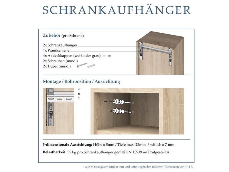 Mass Waschtischunterschrank In Holzfurnier 2 Schubladen In 2020 Einbau Spiegelschrank Badezimmer Innenausstattung Schrank