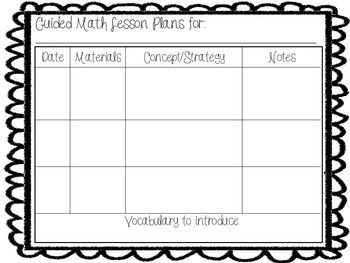 Free Guided Math Lesson Plan Template Just Print And Go  Nd