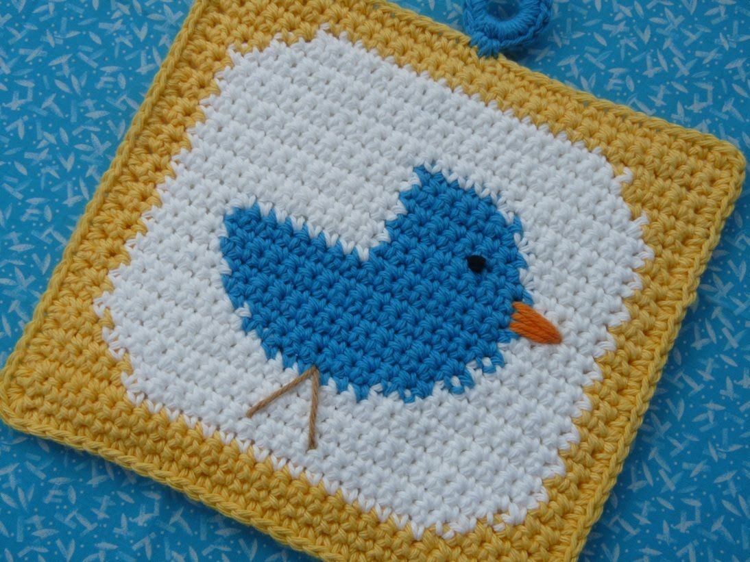 BlueBird Square {Whiskers & Wool} ~ Free Pattern | CROCHET.squares ...