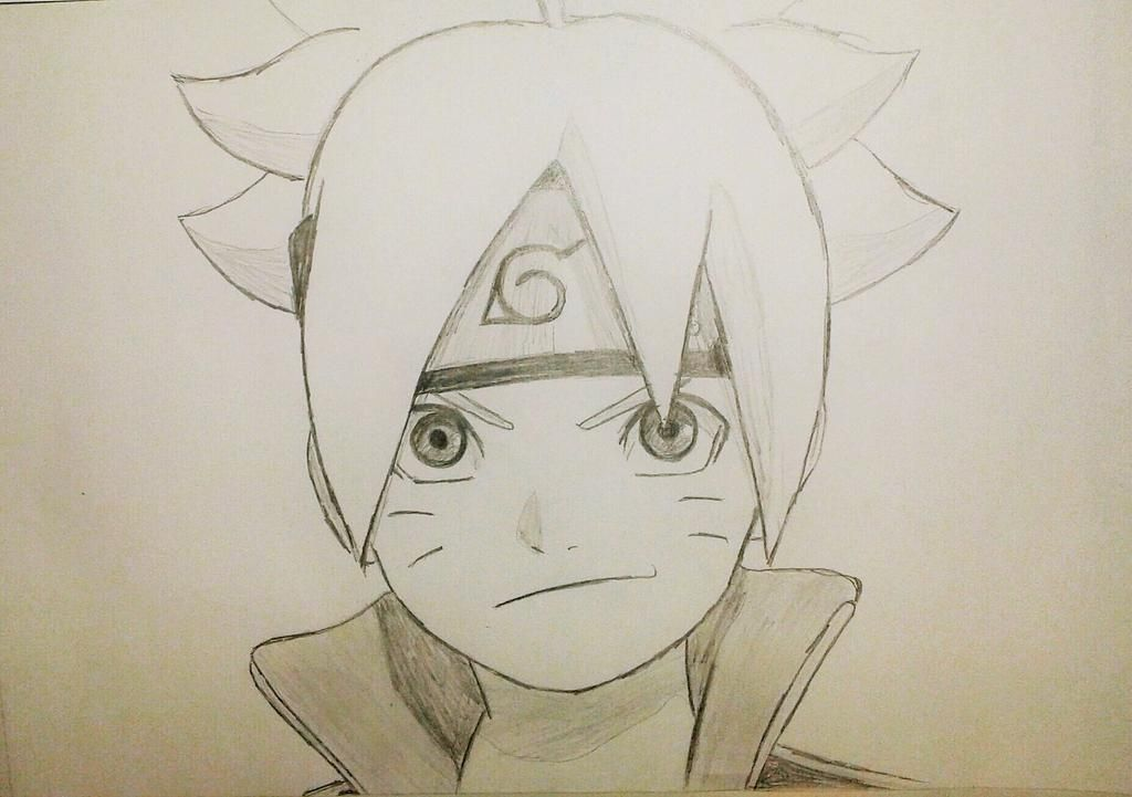Cool Naruto Drawing Ideas Boruto Bijuu Mode Free Pencil Color Full