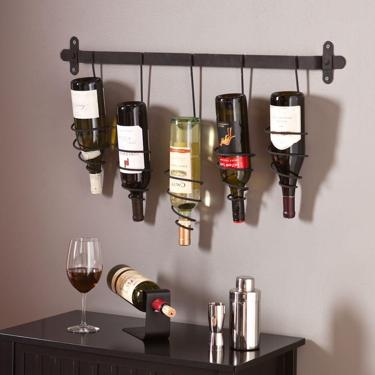 Trigny Wall Mounted Wine Rack Wine Rack Wall Wall Mounted Wine Rack Bottle Wall