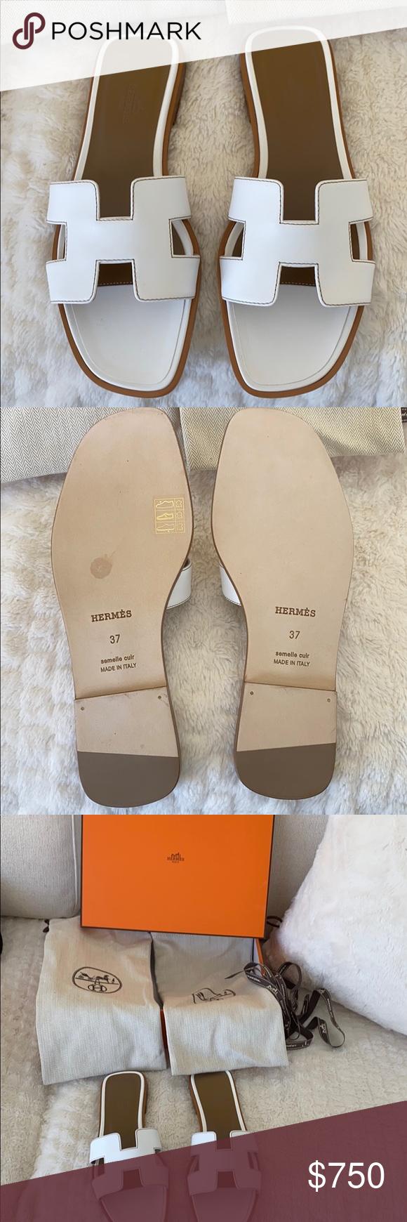 Sandale Hermès Oran neuve authentique !! Taille 37 Jamais porté! Tout nouveau Hermes O …   – My Posh Picks
