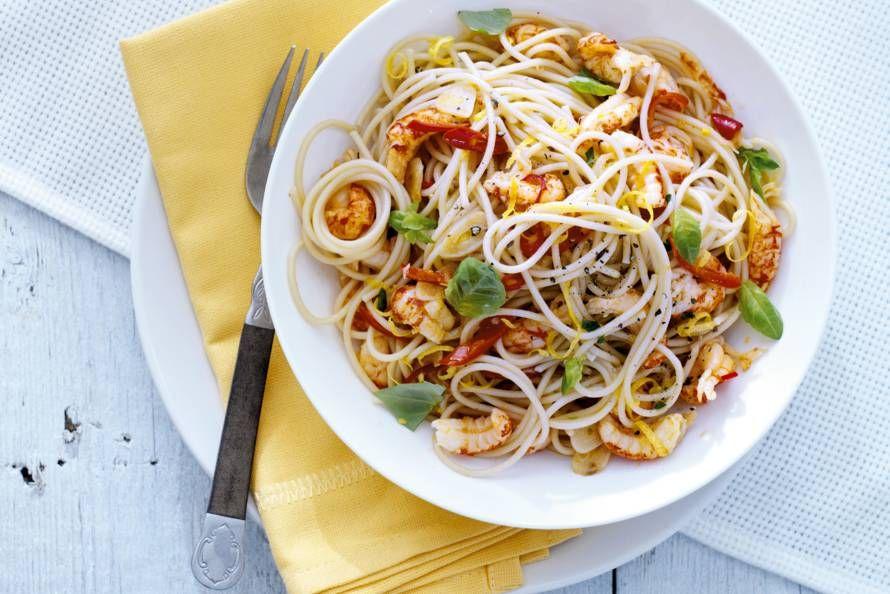 pasta met rivierkreeftjes