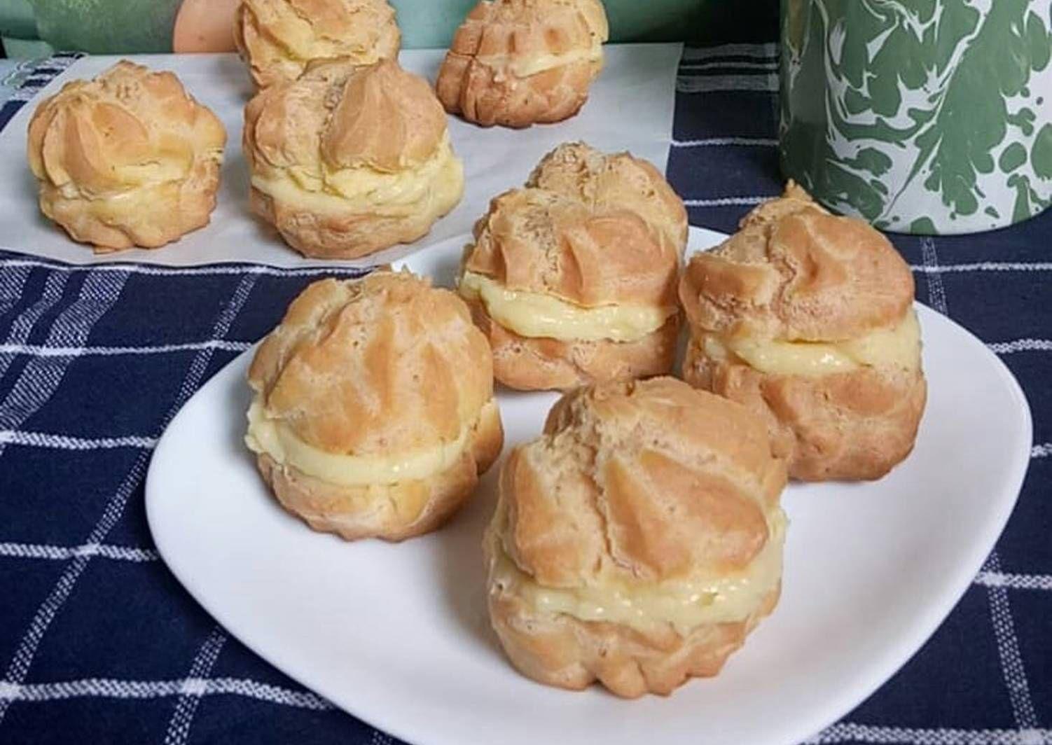 Resep Sus Soes Choux Pastry Vla Vanila Kokoh Tanpa Mixer Oleh Yuliana Menjoi Resep Makanan Dan Minuman Makanan Pastry