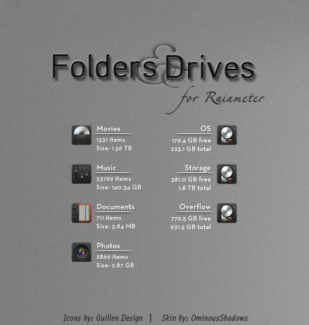 Folders and Drives by OminousShadows Storage