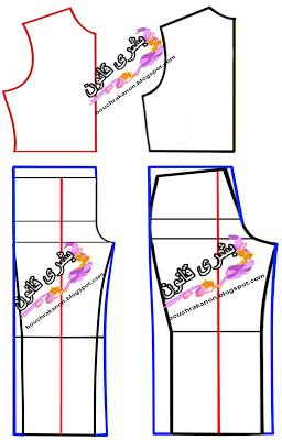 بشرى قانون للتفصيل و الخياطة بترون السالوبيت او الافرول النسائي موضة ربيع وصيف Vest Pattern Pattern Chart