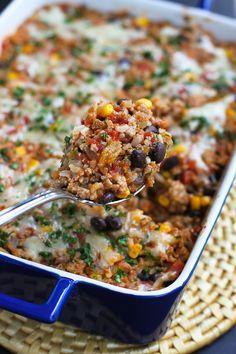 Photo of Southwestern Turkey Rice Casserole Recipe