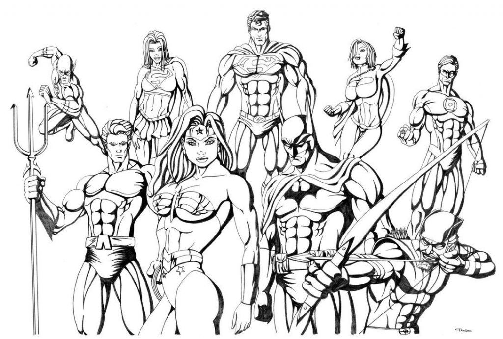 Justice League Coloring Pages (With images) Sketches