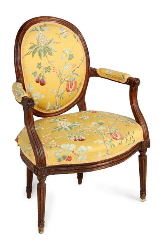 A Pair Of Louis Xvi Fauteuils En Cabriolet Third Quarter 18th Century Restoration Hardware Dining Chairs Upholstered Chairs Chair